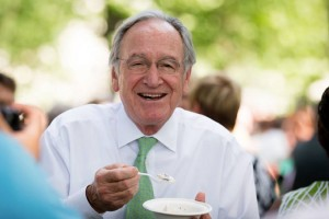 Former Sen. Tom Harkin at the 32nd Annual Capitol Hill Ice Cream Party (Photo via Facebook/International Dairy Foods Association)
