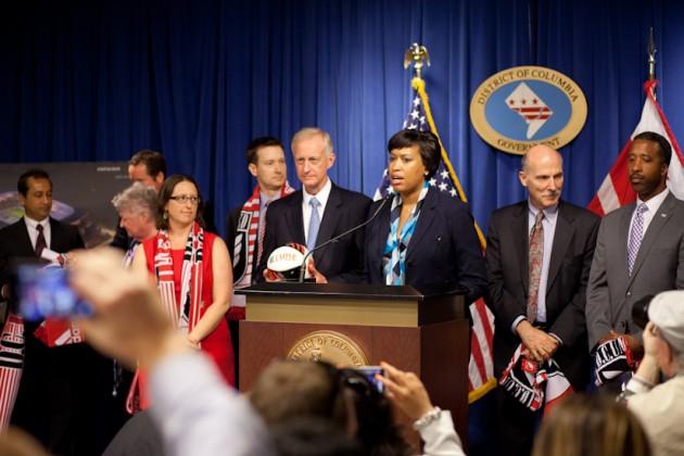 Mayor Muriel Bowser announces D.C. United's stadium deal has been finalized.
