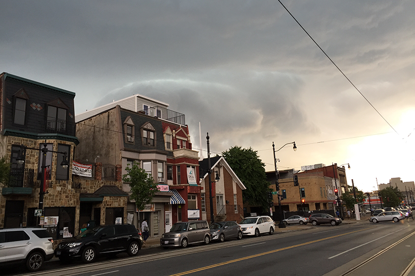 Storm clouds over H Street NE