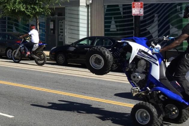 ATV rider on H Street