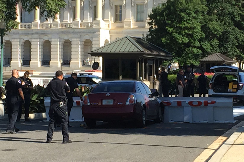 Car crash at U.S. Capitol