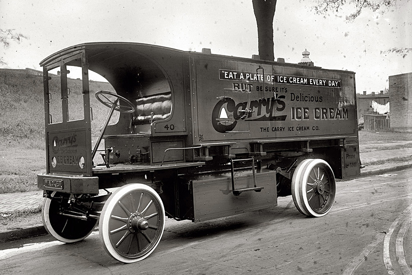 Carry Ice Cream Co. truck (Photo courtesy of Tatyana Schum, National Historical Archives)