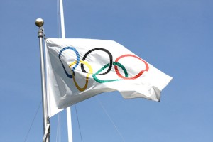 Olympic flag (Photo via Flickr/Scazon)