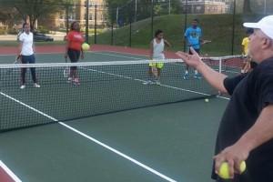 Serve Your City tennis class (Photo via Instagram/Serve Your City)