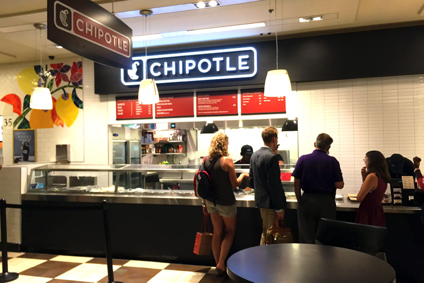 Chipotle in Union Station food court