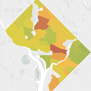 D.C. gun crime map (Image via District, Measured)