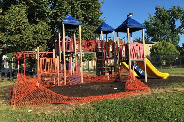 Miner Elementary School playground on Aug. 12, 2015