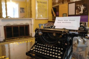 Sewall Belmont House & Museum typewriter (Photo via Twitter/SBHMuseum)