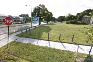 Future site of batting cages near Eliot-Hine Middle School (Photo via Google Maps)