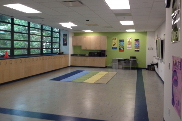 A new music classroom at Van Ness Elementary.