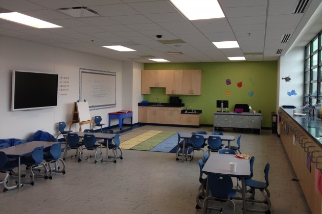 Teacher Lauren Poteat's classroom for before and after-school care.