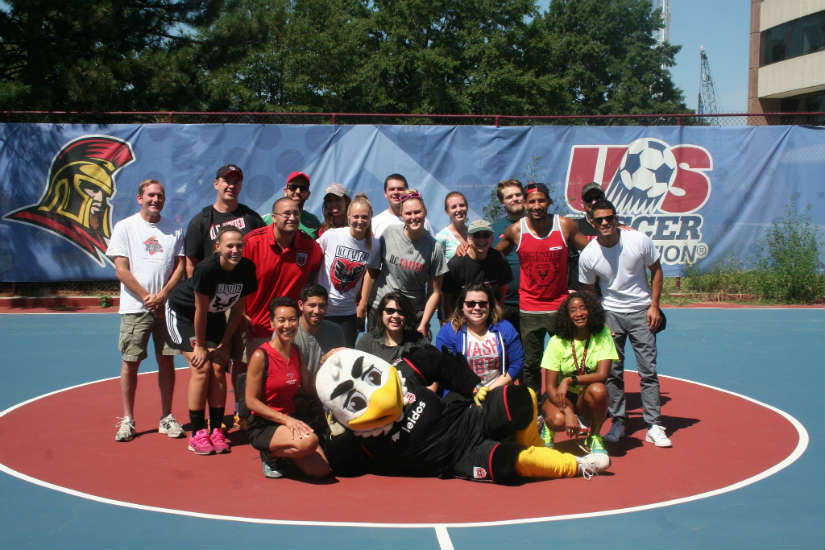 D.C. United volunteers at Jefferson Academy Middle School (Photo via Flickr/KGDG)