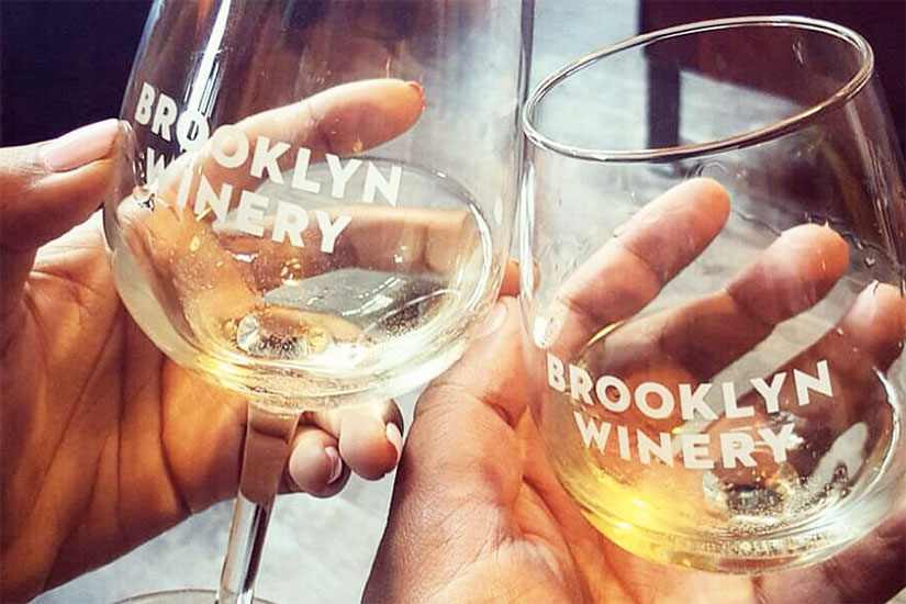 Brooklyn Winery glasses (Photo via Instagram/Brooklyn Winery)