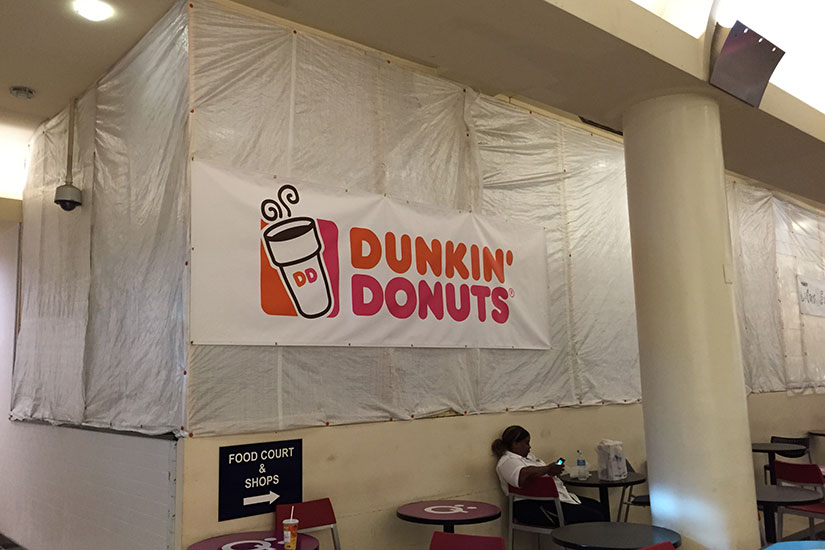 Dunkin' Donuts banner in Union Station