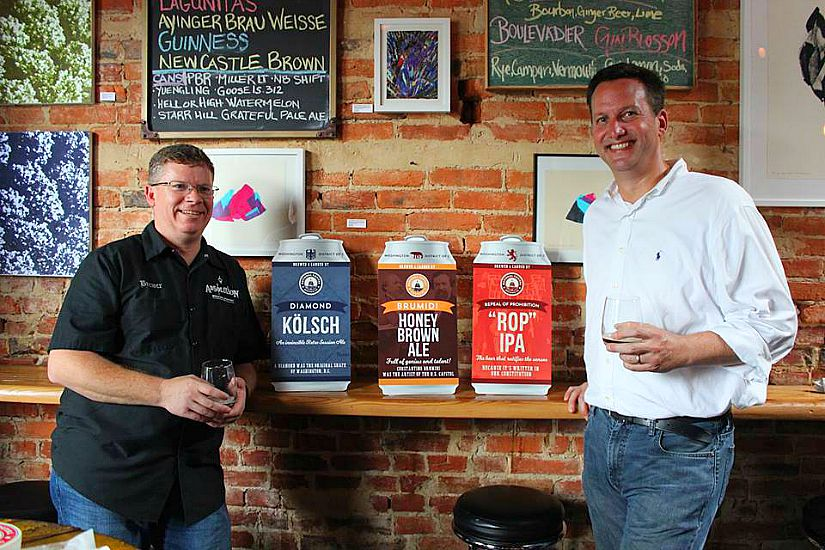 Michael Webb and Wes McCann (Photo via Facebook/National Capital Brewing Company)