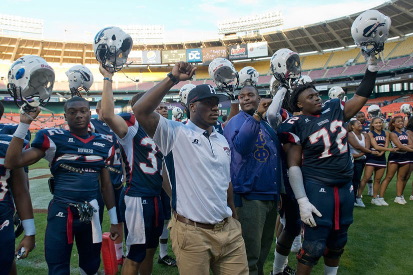 Howard University football team (Photo via AT&T Nation's Football Classic)