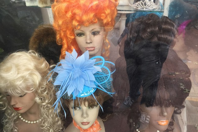 Some of the wigs at Kay Wigs