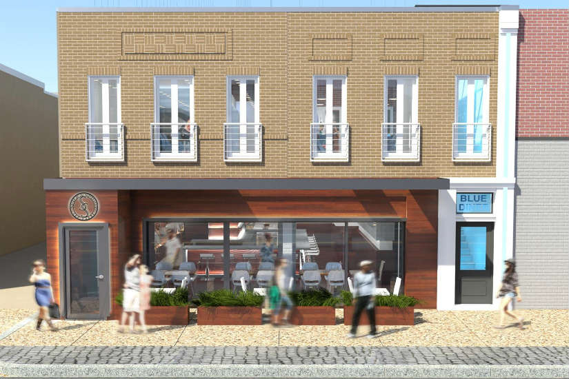 Rendering of Spile and Spigot and Blue Diner on H Street NE (Image courtesy of Justin Harbin)