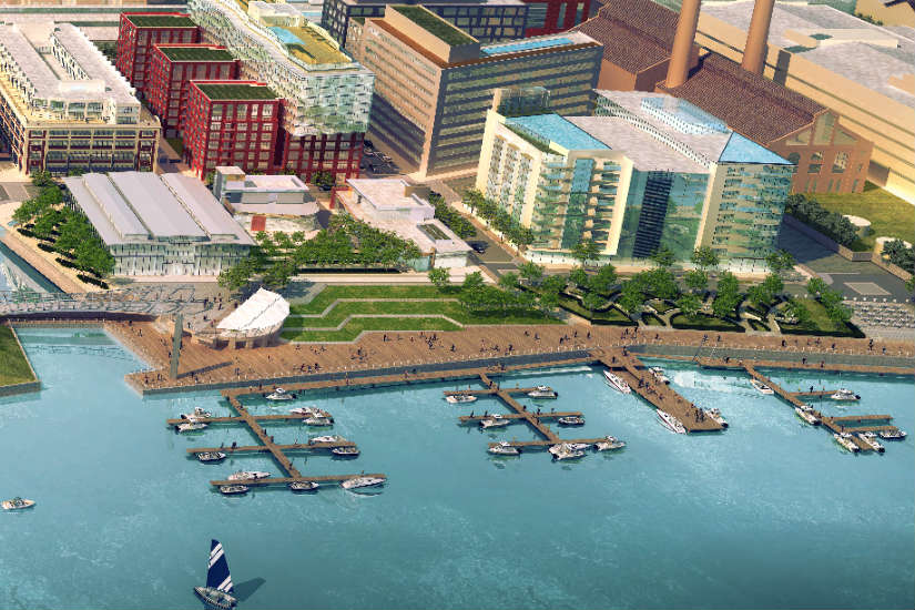 Rendering of the marina near Yards Park (Photo via Forest City Washington)