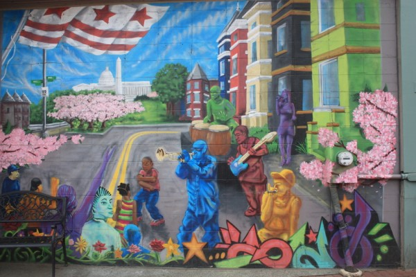 Barracks Row mural
