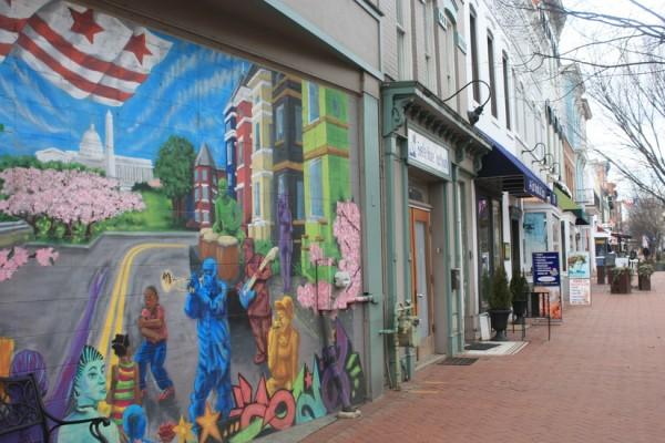 Barracks Row mural