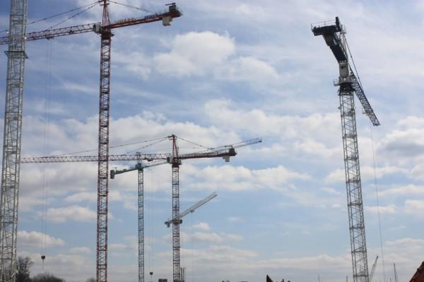Cranes at The Wharf
