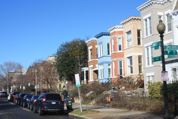 Houses at 1st and F streets SE
