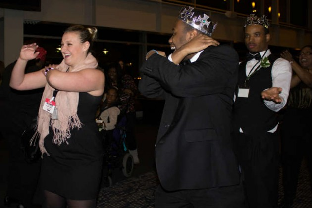Every attendee was crowned a king or queen of the prom