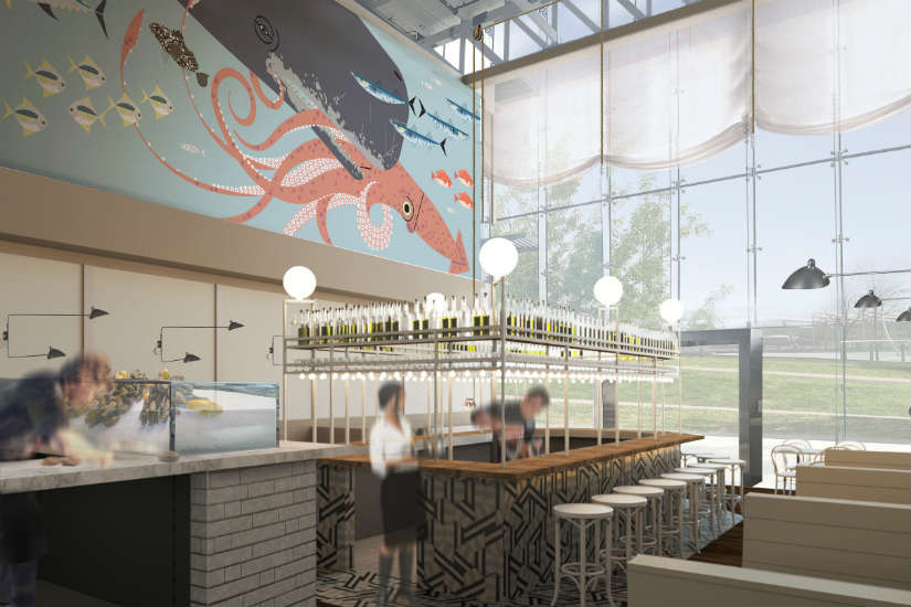 Seafood restaurant slated to open in navy yard in spring for Fish restaurants near me now