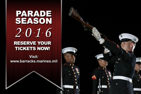 Marine Barracks Parade Season 2016 (Photo via Marine Barracks/Cpl. Chi Nguyen)