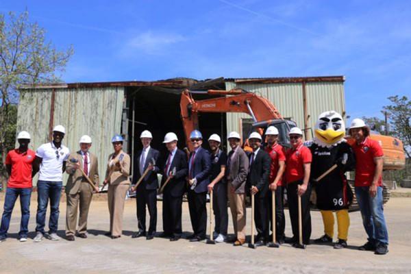 Buzzard Point demolition ceremony (Photo via Twitter/Charles Allen)