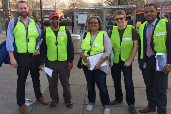 DC SafeRoutes Program volunteers (Photo via DC Safety Network)