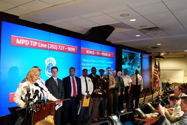 D.C. Police Chief Cathy Lanier held a press conference earlier today