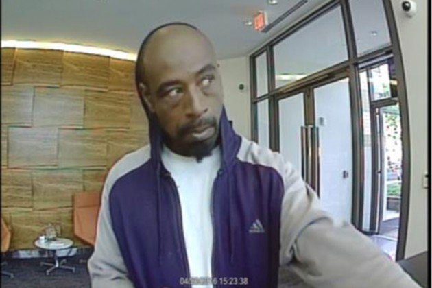Man wanted in robbery of Premier Bank in NoMa on April 20, 2016 (Photo via MPD)