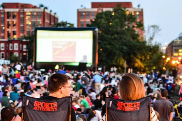 NoMa Summer Screen (Photo via Facebook/ NoMaBID)