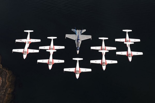 Canadian Armed Forces Snowbirds air demonstration team (Photo via Royal Canadian Air Force)