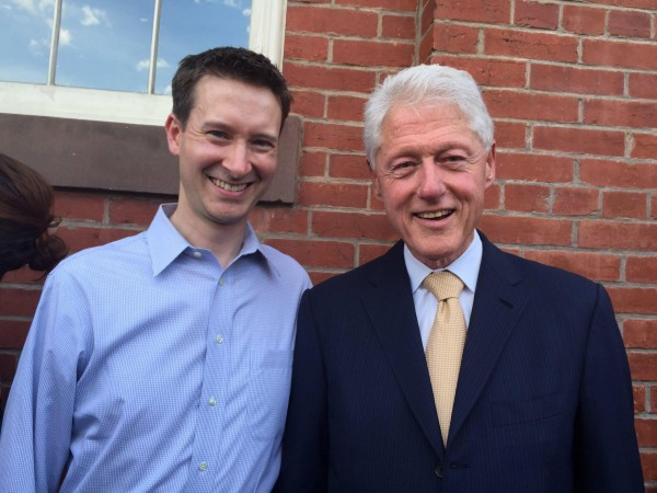 Clinton and Allen, photo via Twitter : Charles Allen
