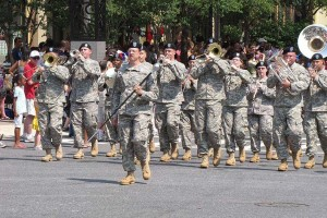 D.C. National Guard band, photo via 257th Army Band