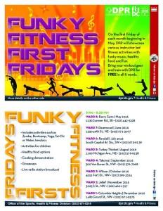 FunkyFitnessFirstFridaysflyer2016, flyer via DRP