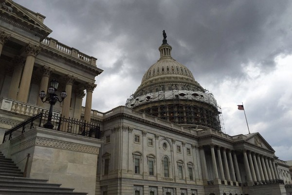 A storm rolls into Capitol Hill on June 21, 2016 (Photo via Twitter/Architect of the Capitol)