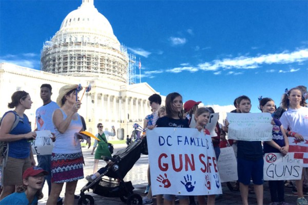 D.C. Moms and Dads for Rational-Gun-Safety Legislation march (Photo via Twitter/Charles Allen)